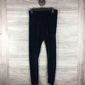 Romeo & Juliet Couture Blue Velvet Luxe Sweatpants